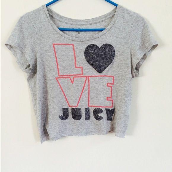 Juicy couture crop top. Never been worn./ size fits a smaller lady. Juicy Couture Tops Crop Tops