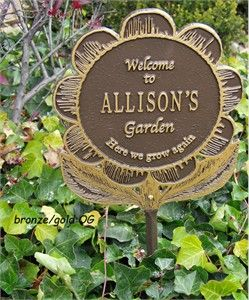 Welcome To Garden Personalized Flower Plaque Garden Plaques