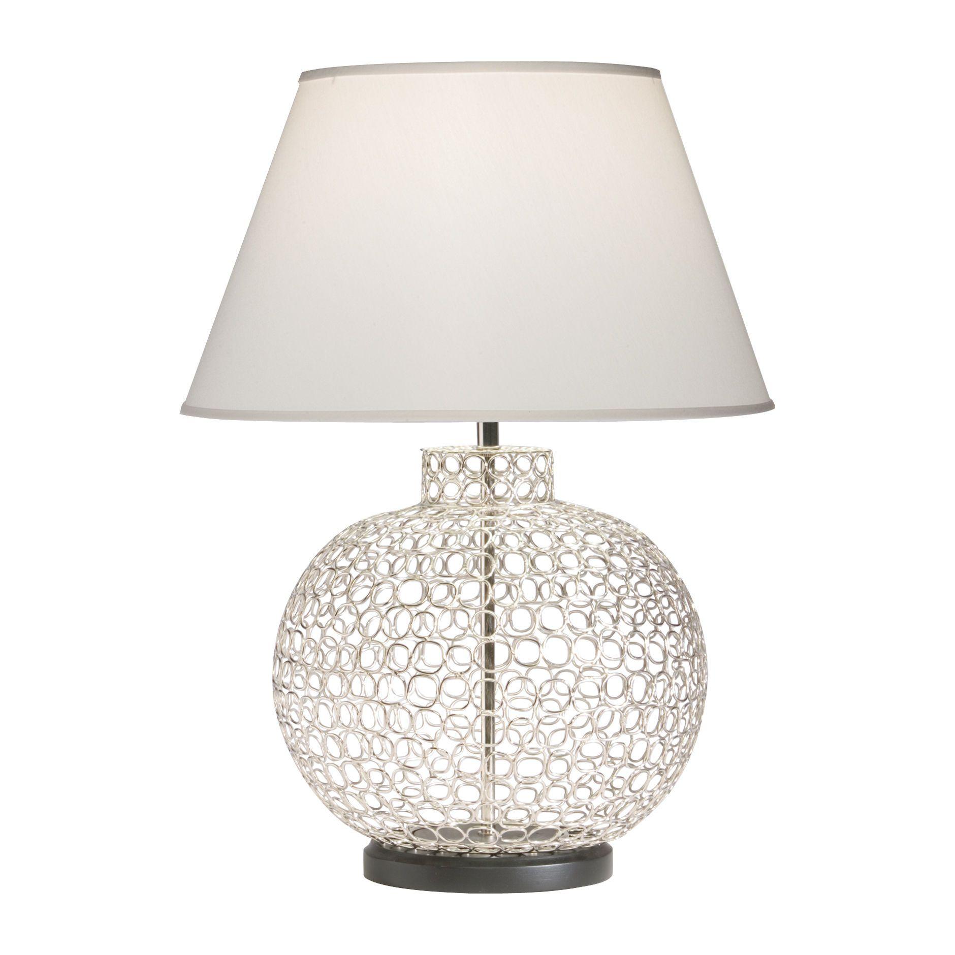 Openweave Nickel Table Lamp - Ethan Allen US | Floor lamp ...