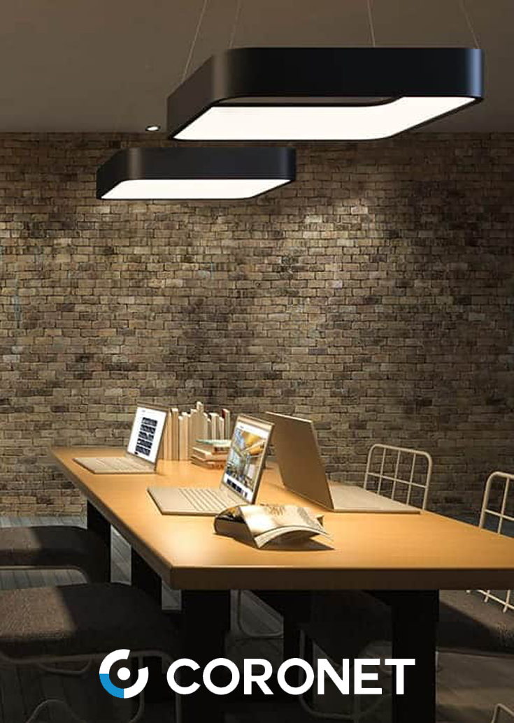 Quad Luminaire Is A Modern High End Architectural Square Led Suspension Fixture With Uplight And Downlight Grea Light Architecture Room Lights Office Design