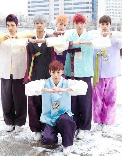 N, Leo, Ken , Ravi , Hong Bin and Hyuk ♡ #VIXX - Hanbok Photos
