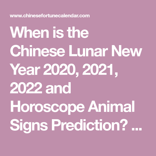 When is the Chinese New Year 2021? February 12, 2021 (With ...