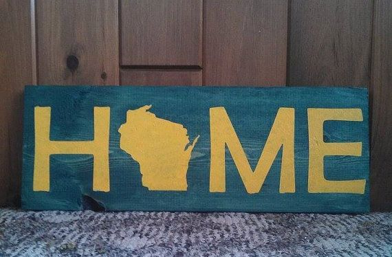 Green Bay Packers Painted Home Wisconsin Sign Things To Do