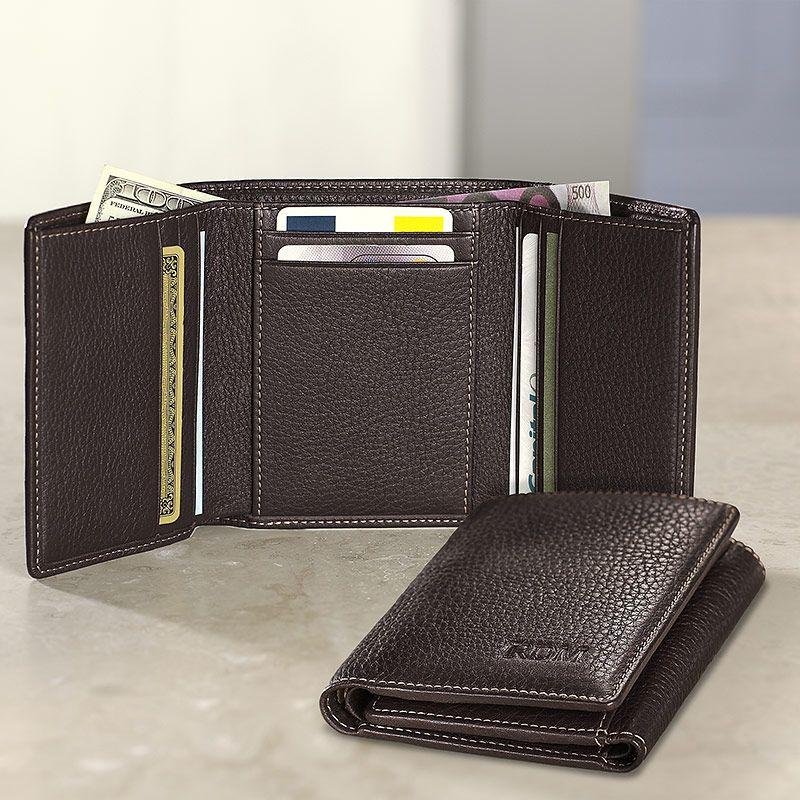Wonderful Mens Tri Fold Wallet Ikuzo Wallets Tri Fold Wallet Leather Wallet Trifold Wallet