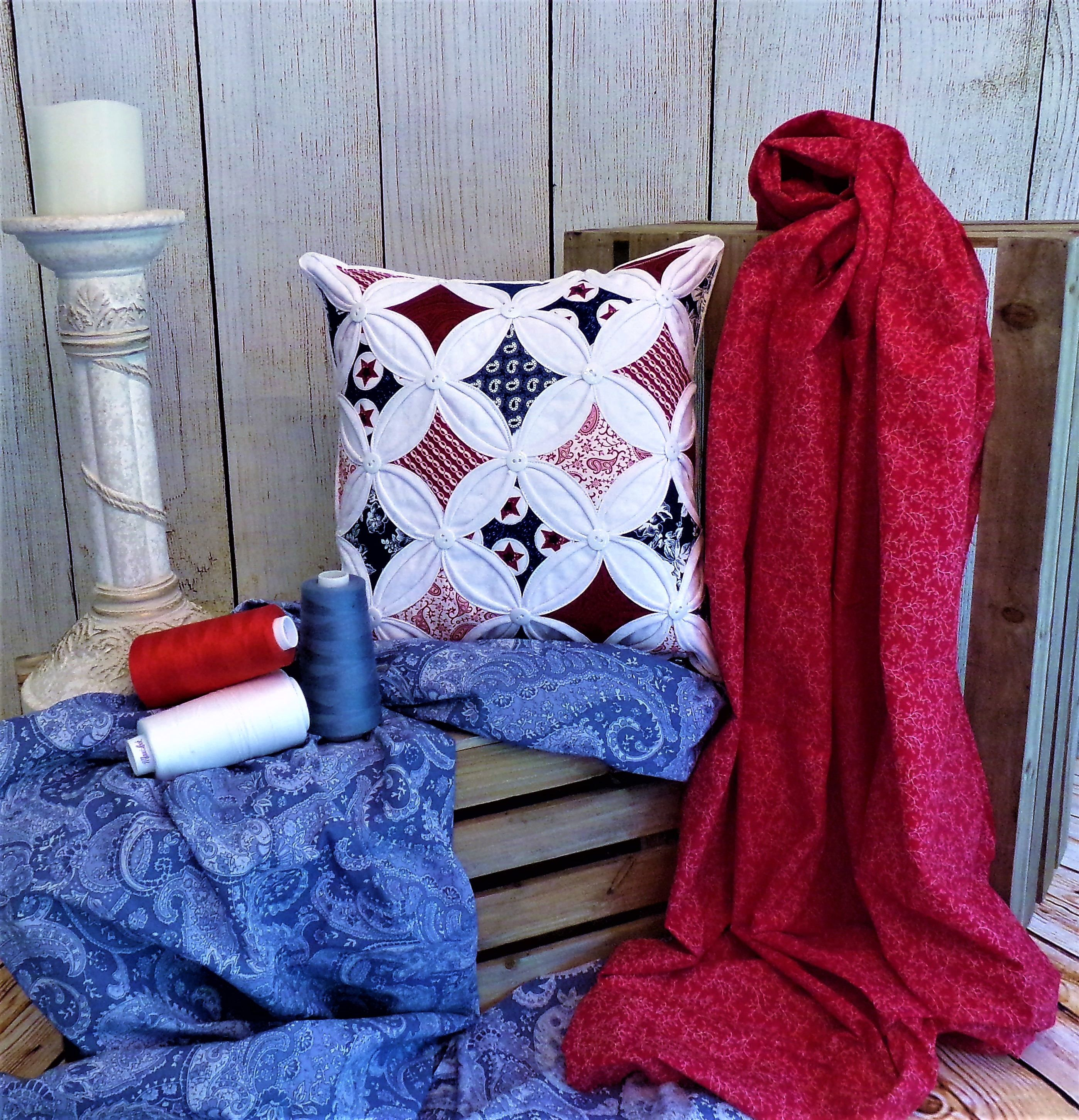 Gallery In Red White Blue Pillow by FirstComesLovebyDT on Etsy