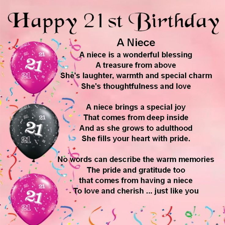 Sentiments to write in a nieces 21st b day card google search happy birthday niece bookmarktalkfo Image collections
