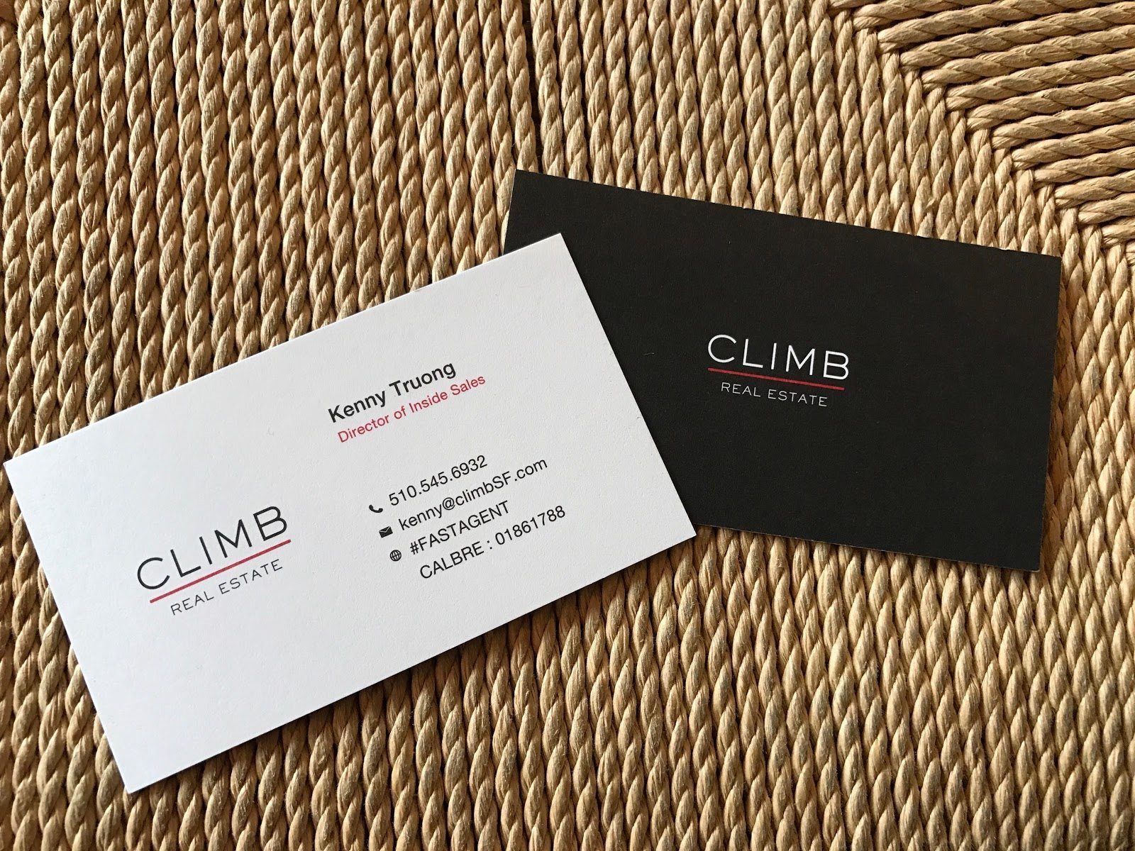 Climb Real Estate Real Estate Business Cards Business Cards