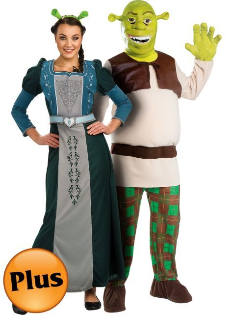 Plus Size Princess Fiona and Plus Size Shrek Couples Costumes - Party City  sc 1 st  Pinterest & Plus Size Princess Fiona and Plus Size Shrek Couples Costumes ...