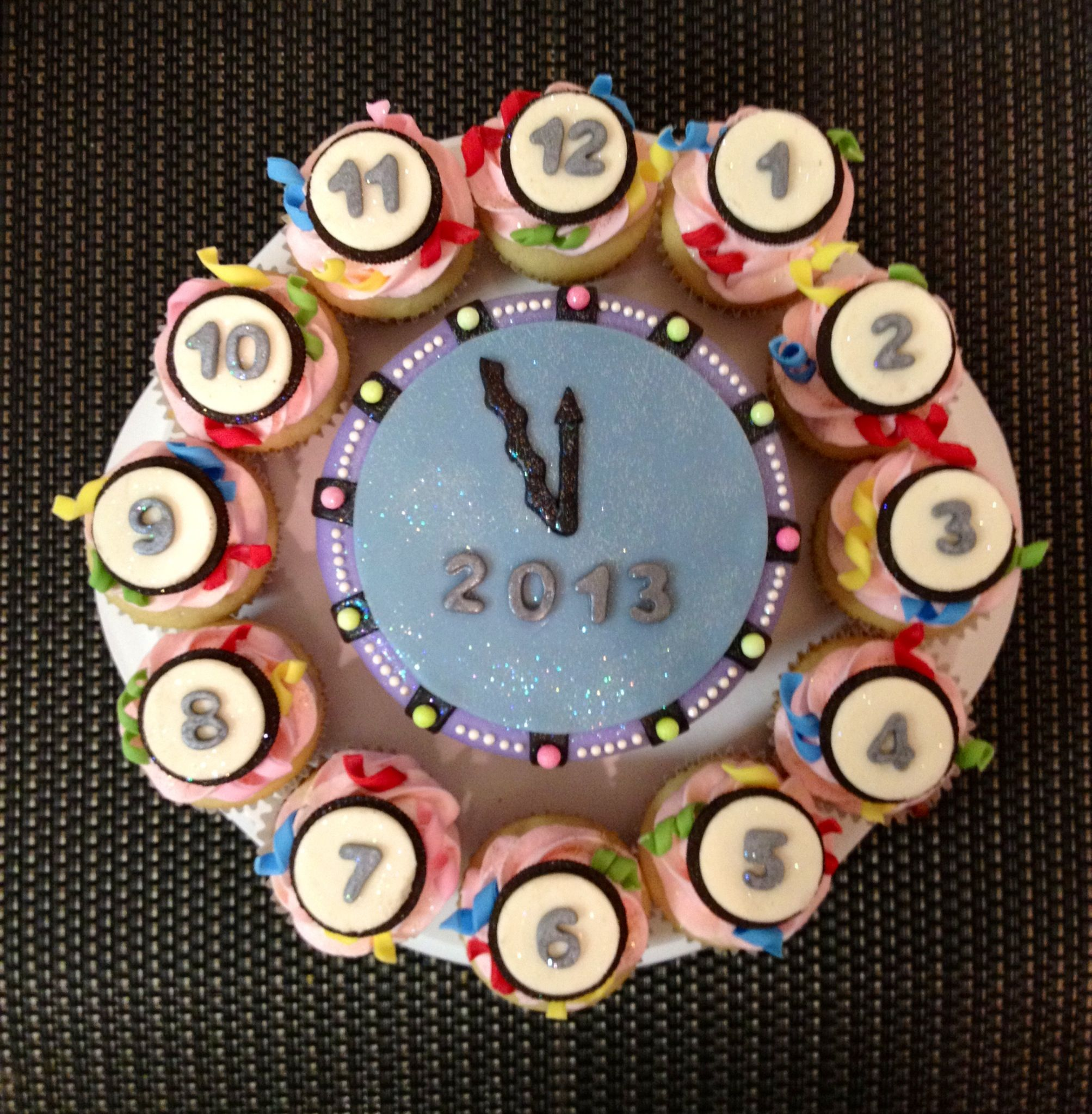 Happy New Year New Years Eve Count Down Clock Chocolate