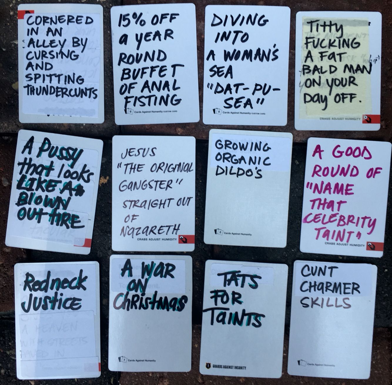 awesome blank card ideas for cards against humanity game diy write