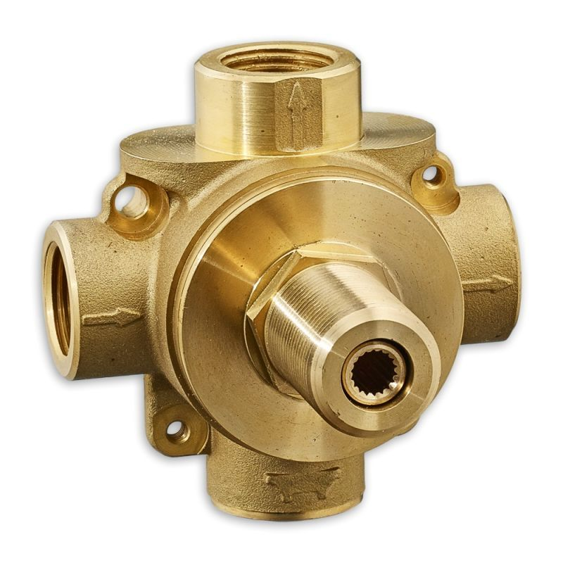 American Standard R433S 3-Way Diverter Rough In Valve with Shared ...