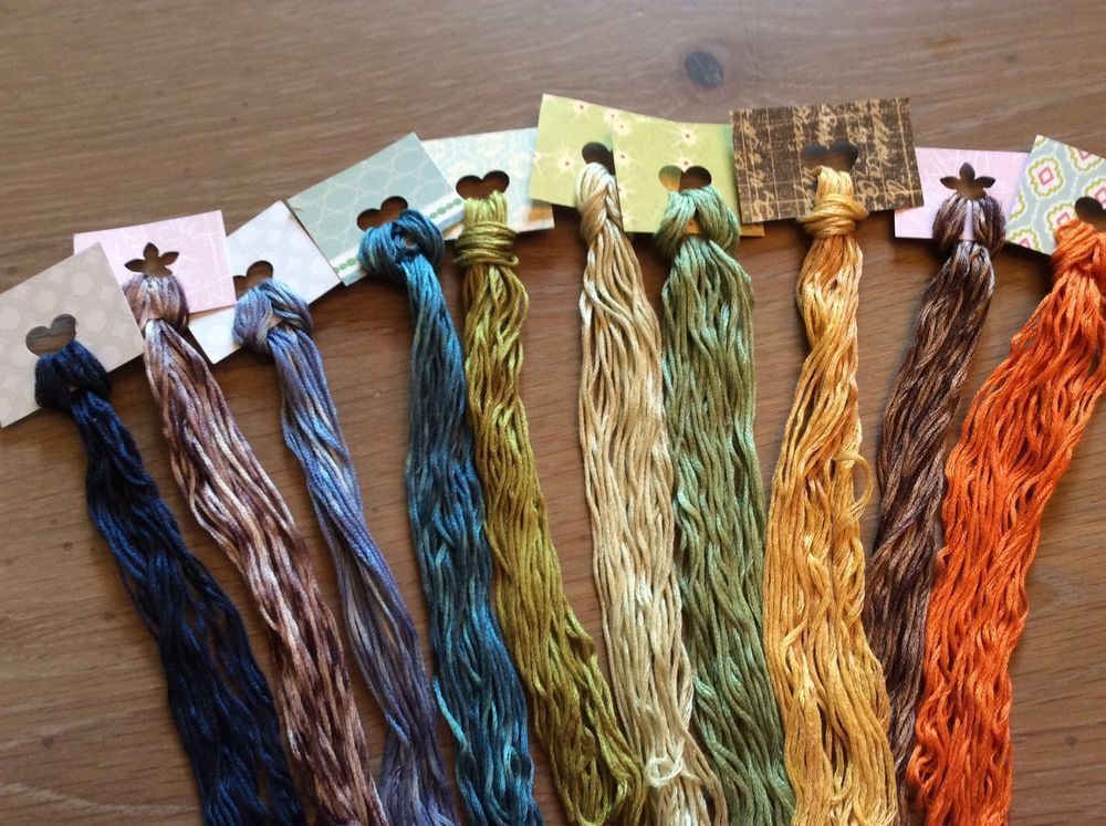 Wholesale - Overdyed Floss New Colors!- 10 large skeins - Natural Dyes  Lot 70 #QueenCityDyeCompany