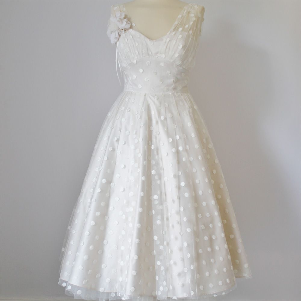 Wedding dresses fifties style  Bridal Gown  Polka dot wedding  Pinterest  Fifties style Polka