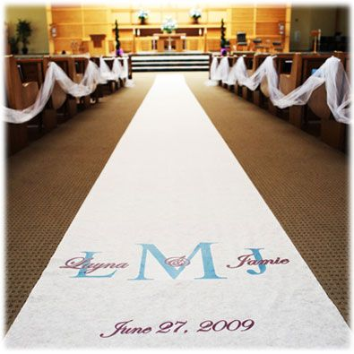 Personalized Aisle Runners Wedding Ceremony