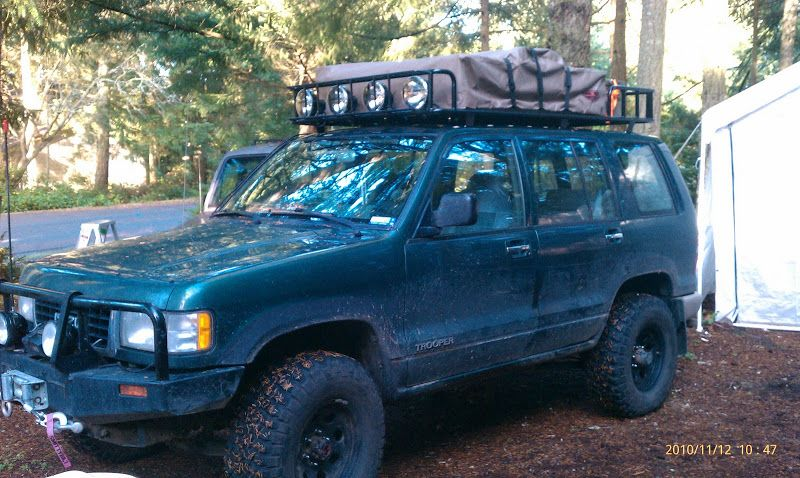 Image result for isuzu trooper with roof top tent Top