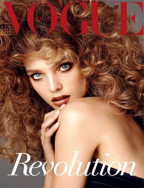 Natalia Vodianova on Cover for Vogue Italia July 2013
