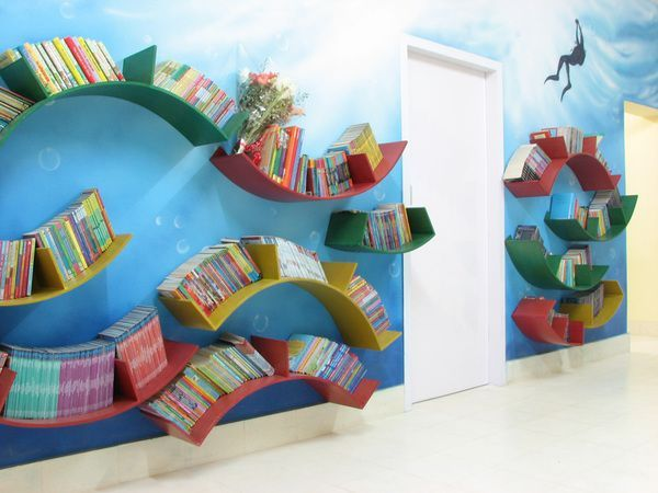 Children 39 S Library Decorating Ideas Children 39 S Library And Play House Full Of Colour Life A Library Decor School Library Decor School Library Design