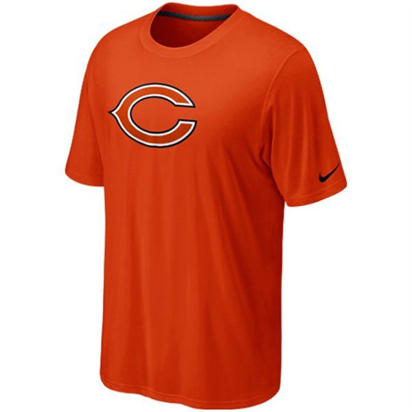 Chicago Bears Legend Logo Orange Performance T-Shirt by Nike (4.1.12)