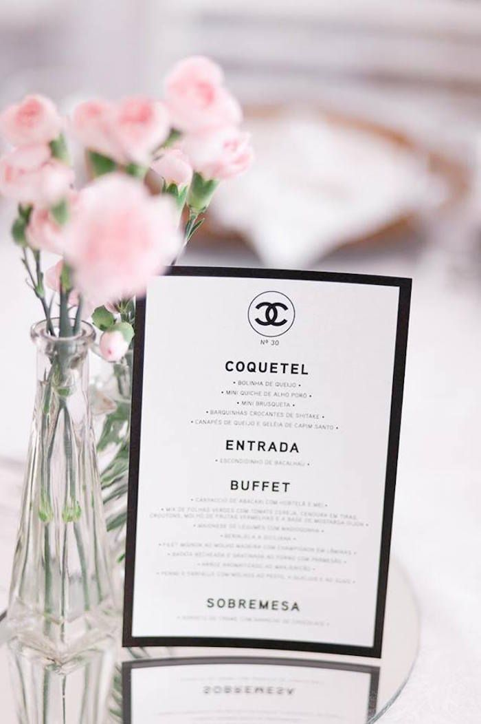 Chanel Inspired 30th Birthday Party Only Coco For Coco Pinterest