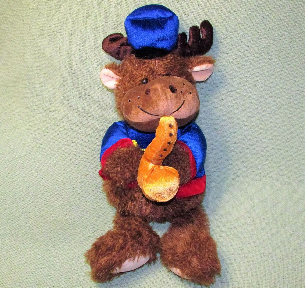 "22"" CHRISTMAS MOOSE Music Band Plush Reindeer Stuffed"