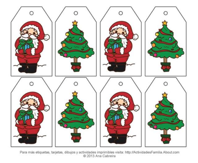 Etiquetas de Navidad para imprimir gratis | Scrapbook