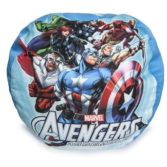 avengers bean bag chair kids play table and chairs marvel s the on a gang all here with captain america falcon hawkeye iron man black widow thor hulk