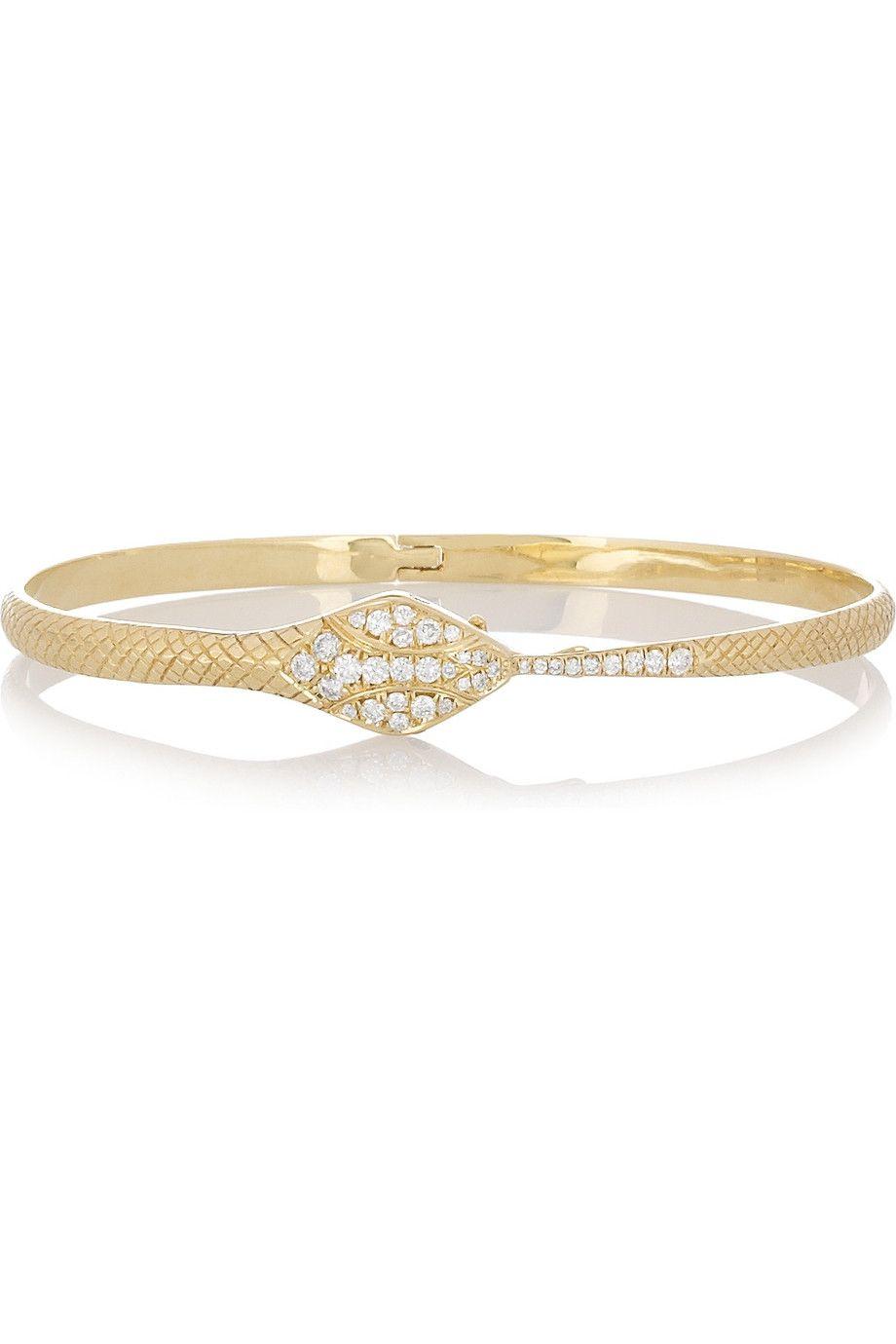 Anita Ko 18-karat Gold, Emerald And Diamond Bracelet