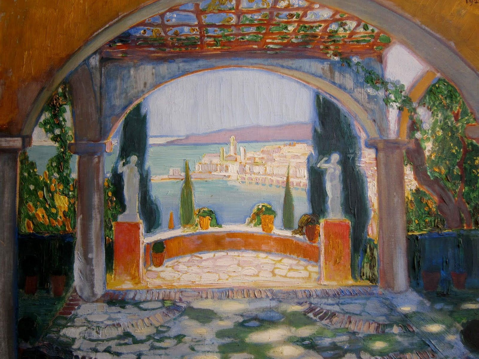 Ferdinand Bac 1859 1952 Bac s painting of his Le Jardin des