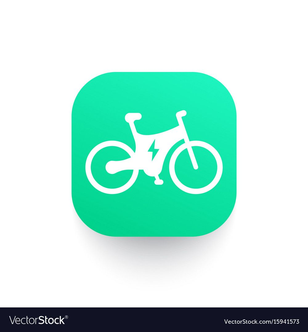 Electric Bicycle Icon Booster Bike Royalty Free Vector Image Ad