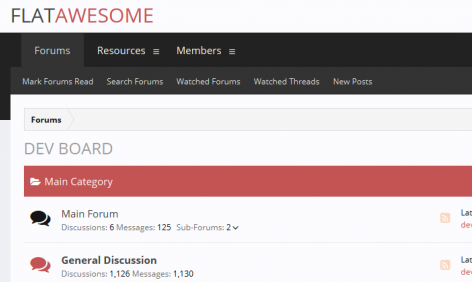 Flat Awesome Both Themes – XenForo Style, Flat Awesome Both Themes