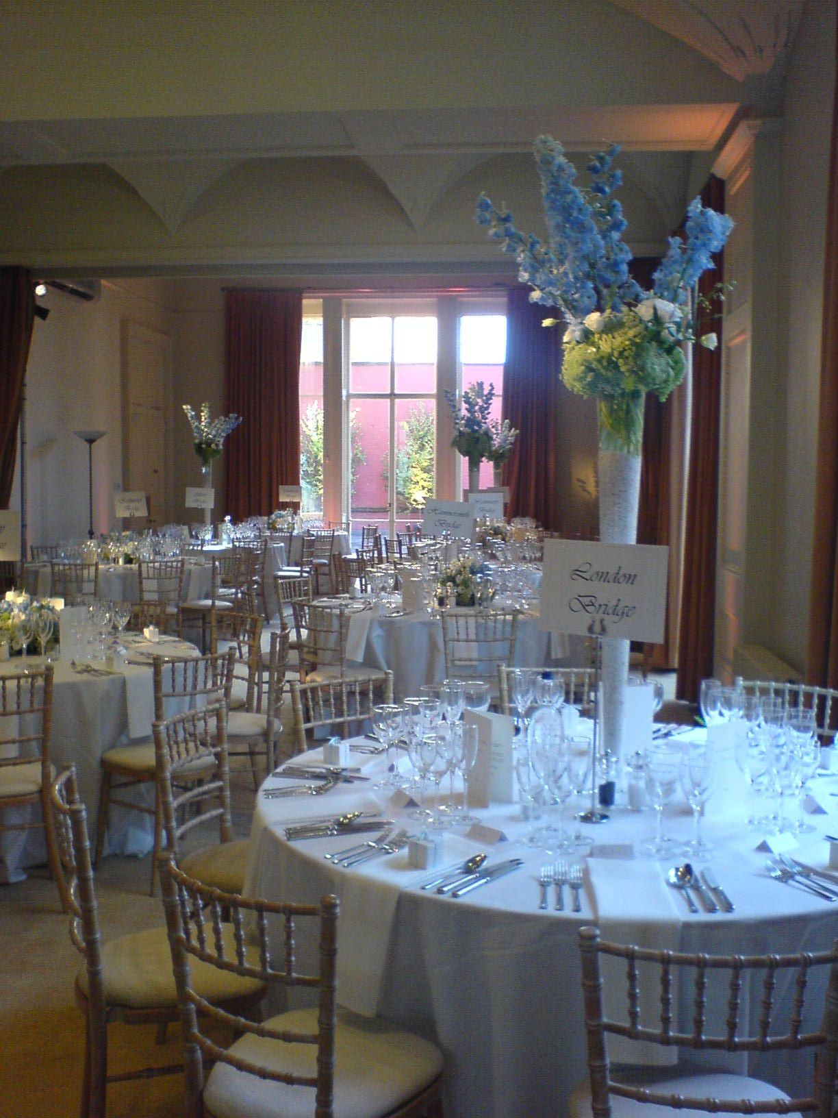 Wedding Reception Looking Onto The Terrace At Kent House