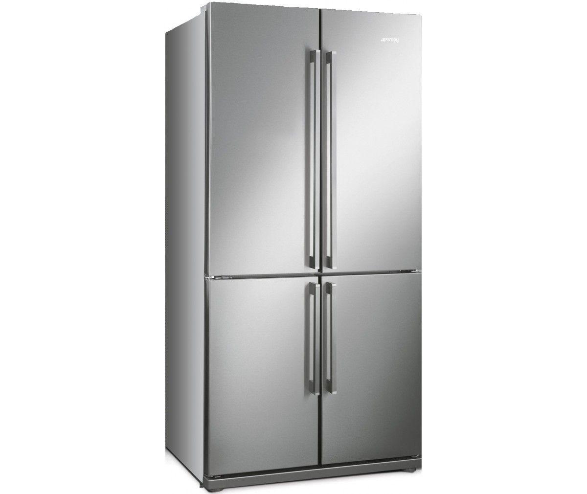Smeg Fq60xp1 Side By Side Koelkast American Fridge Freezers American Fridge American Style Fridge Freezer