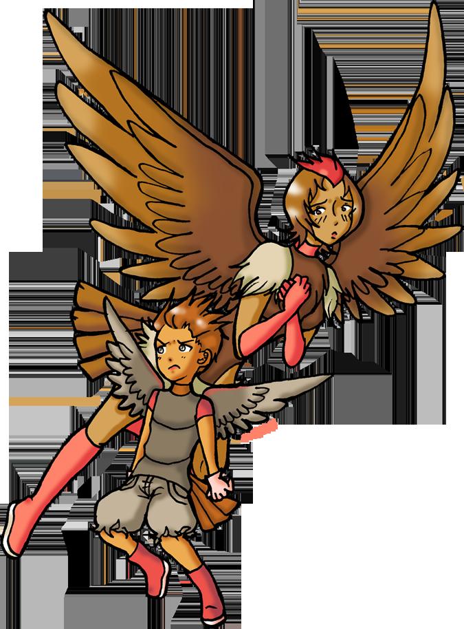 Pokemon Gijinka 021-022 by Akumabaka.deviantart.com on @deviantART  Spearow and Fearow Gijinkas