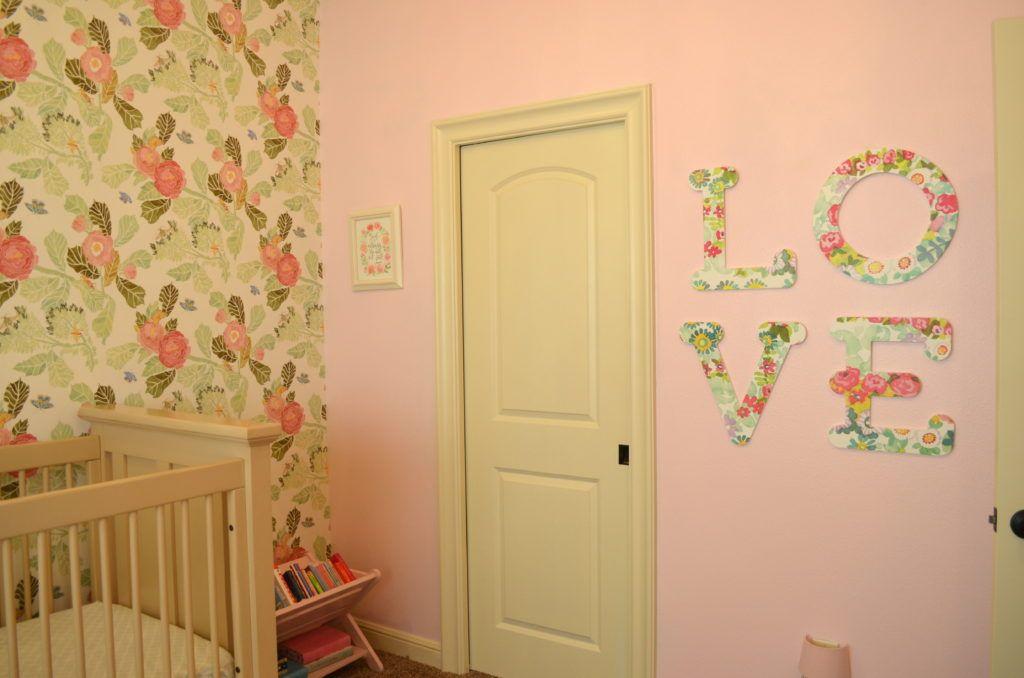 Callie\'s Vintage Floral Nursery | Vintage floral, Floral wall and ...