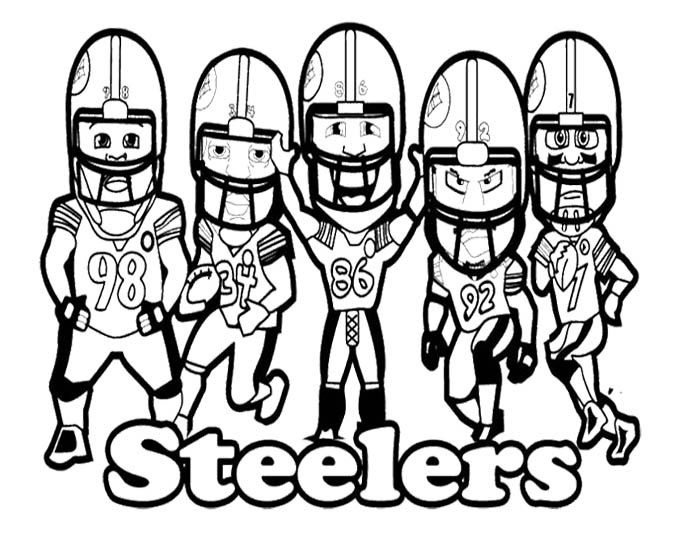 nfl football steelers coloring page - Steelers Coloring Pages