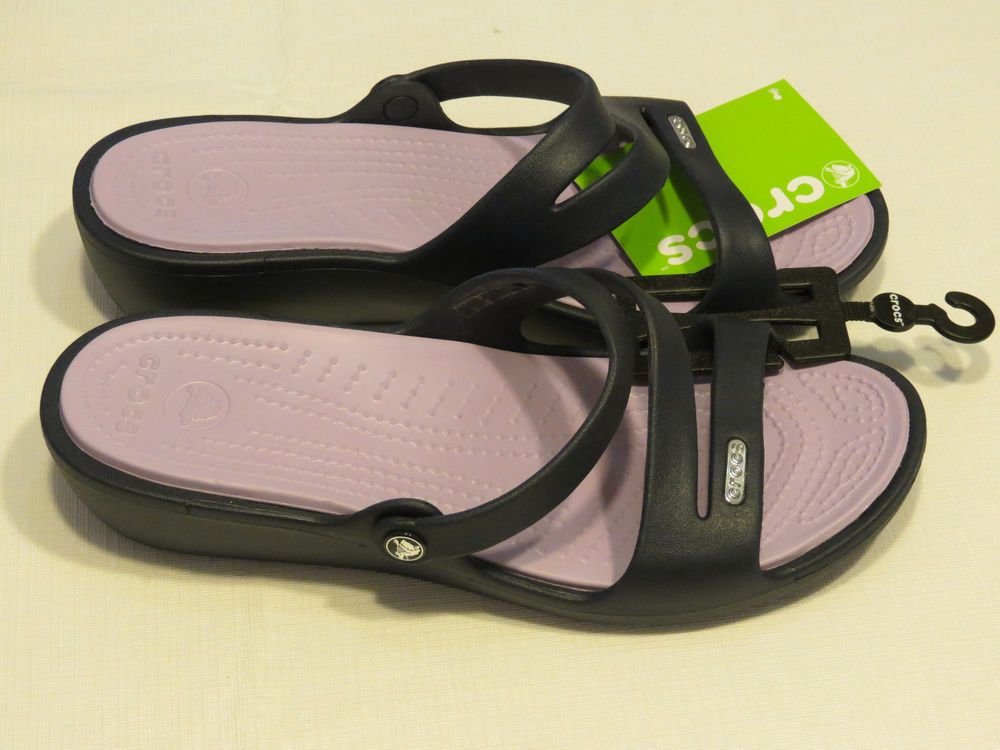 Crocs Patricia Sandal relaxed fit Womens W 9 navy lavender