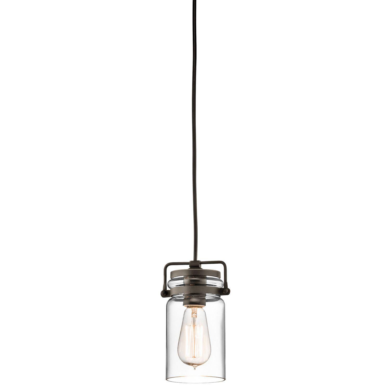 Kichler Brinley 1 Light Mini Pendant Mini Pendant Lights Pendant Light Pendant Lighting
