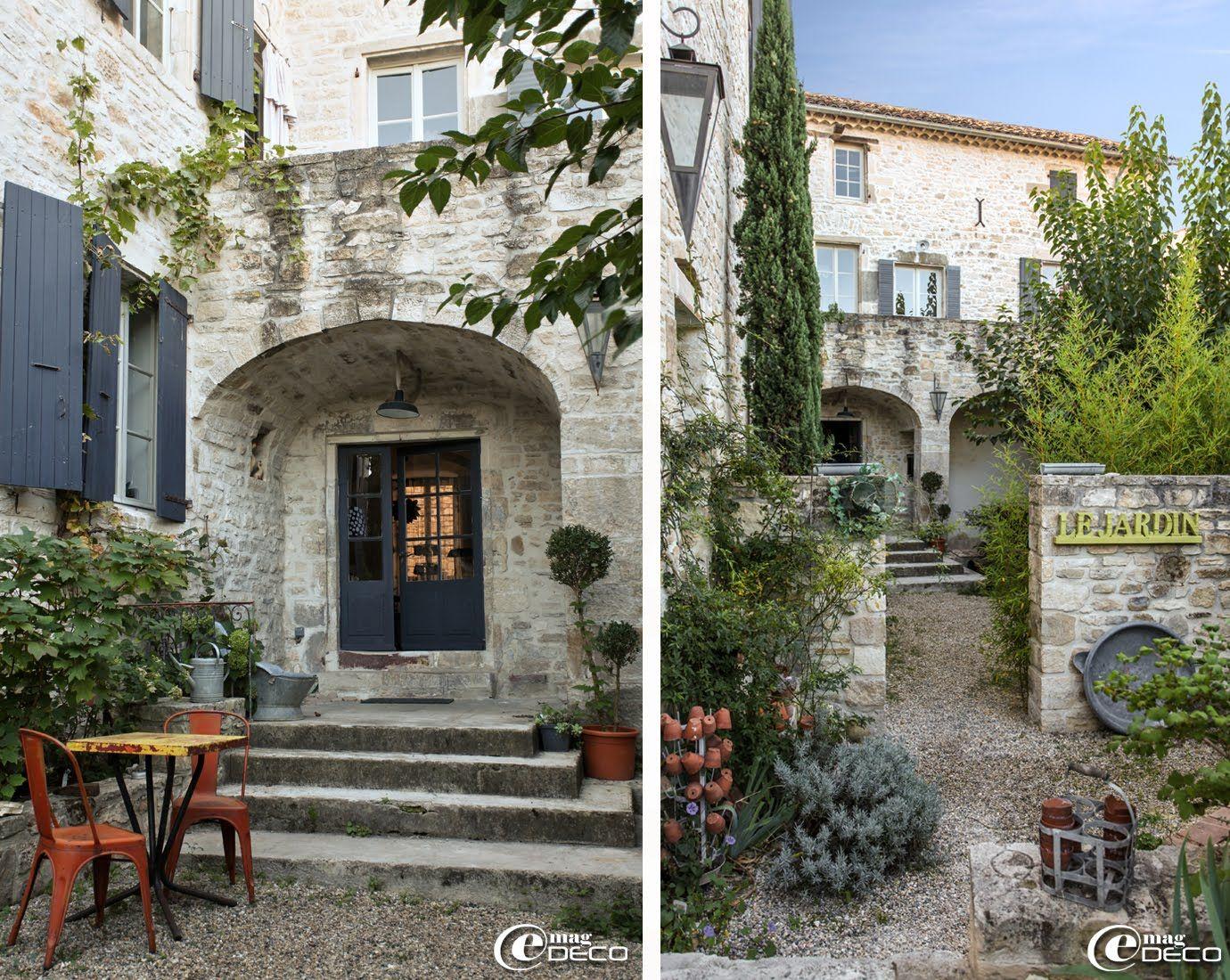Terrasse et jardin de la maison d\'hôtes \'Les Nomades Baroques\' à ...