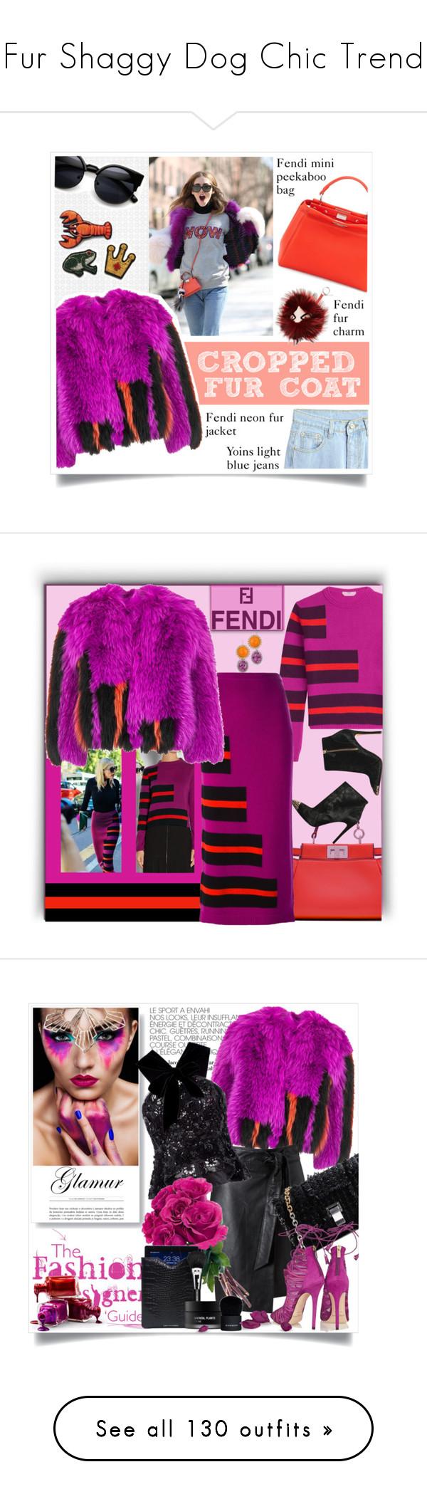 """Fur Shaggy Dog Chic Trend"" by yours-styling-best-friend ❤ liked on Polyvore featuring Fendi, Alice + Olivia, Liz Palacios, croppedfauxfur, Miss Selfridge, Oscar de la Renta, Proenza Schouler, Jimmy Choo, Driftwood and MAC Cosmetics"