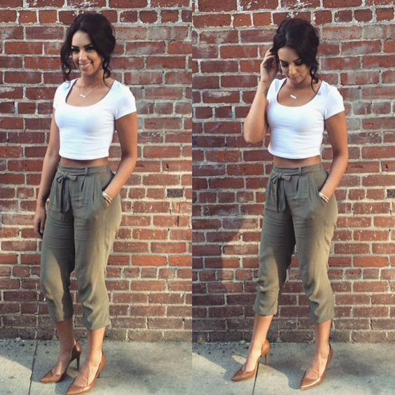 Tips Para Usar Pantalones Capri Si Eres Chaparrita Pantalones Capri Pantalones Mujer Ropa
