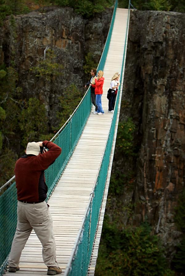 Walk The Suspension Bridge In Thunder Bay Ontario You Can Even Try Zip Lining Too For More Skyhigh Ontario Canada Travel Canada Road Trip Ontario Road Trip