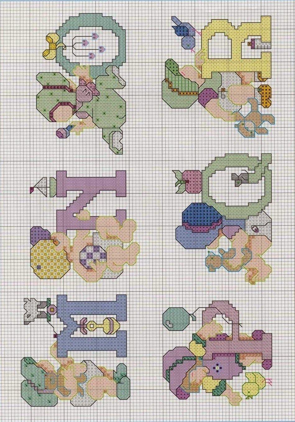 Graficos punto de cruz gratis abecedarios infantiles 52 punto de cruz pinterest - Labores en punto de cruz ...
