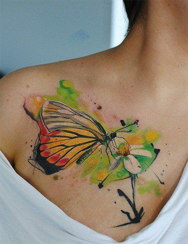 3155f6c0a41a5 21 Realistic Watercolor Tattoo Designs and Ideas for Women ...