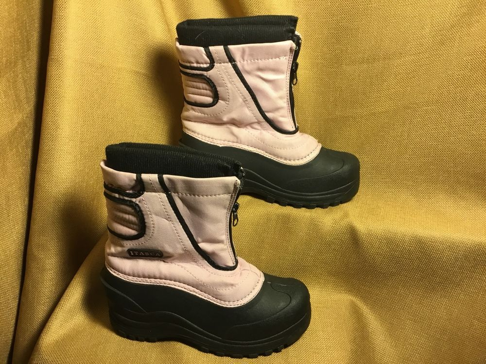 huge discount 15da9 18646 Young girl size 3 ITASCA Winter boots Pink   Black  fashion  clothing  shoes