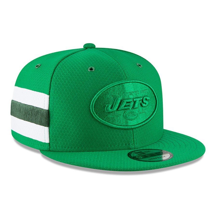 Men s New York Jets New Era Kelly Green 2018 NFL Sideline Color Rush  Official 9FIFTY Snapback 15ef8b0e7