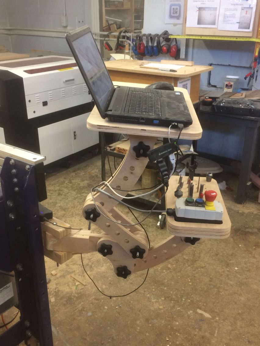Cnc Computer Station Designed In Vcarve Pro Cut On Our