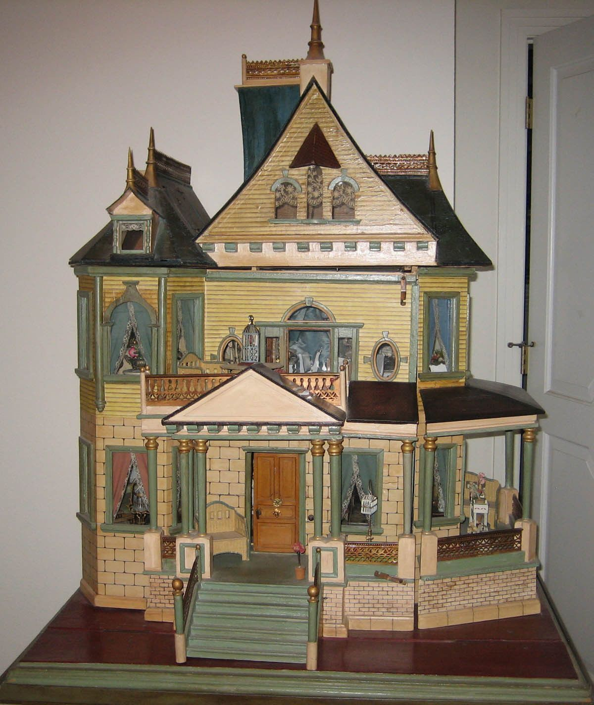 Antique Christian Hacker Queen Anne Style Mansion Doll House Old