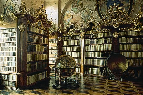 Baroque: Library of Vorau Abbey, Styria.