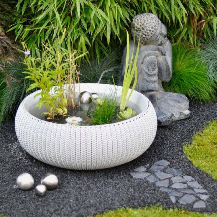 Diy Miniteich Mit Zen Garten Mit Anleitung Fur Garten Und Balkon Zum Selbermac Anleitung Balkon Diy Fur Mini Zen Garden Zen Garden Miniature Garden