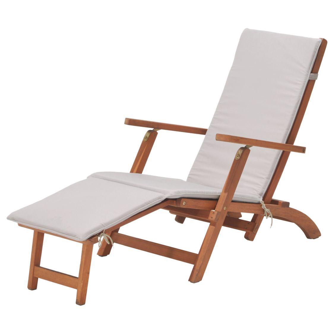 John Lewis Partners Venice Steamer Sun Lounger Fsc Certified Eucalyptus Wood Natural Sun Lounger Garden Recliner Chairs Garden Seating